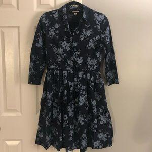 GAP floral, long-sleeve dress (loose fitting)